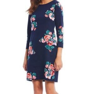 Joules NWT Riviera Print Jersey Dress in Navy Rose